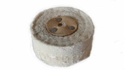 White Stitch Polishing Wheel 2″ 50mm x 2 Section