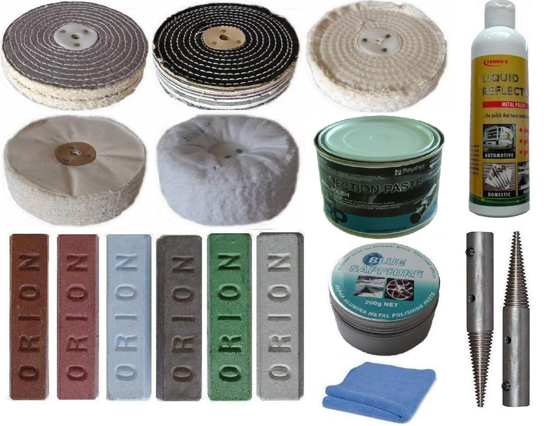 Bench Grinder polishing Kit 150mm 6 inch x 2