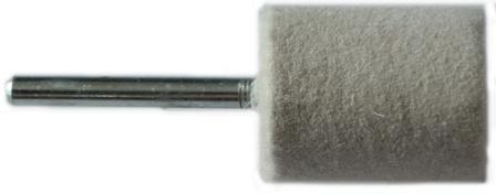 16mm Felt Polishing Cylinder Bob With 3mm Shaft