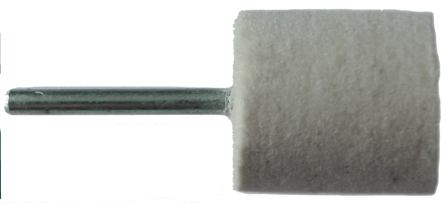 20mm Felt Polishing Cylinder Bob With 3mm Shaft