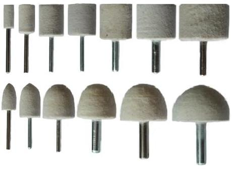 Felt Polishing Cylinder Bobs & Points Kit 13p...