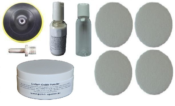 125mm Felt Glass & perspex Polishing Pad Kit