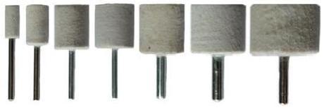 Felt Polishing Cylinder Bobs Kit 7pce