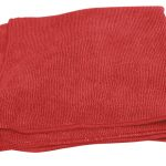 Red Microfibre Polishing Cloth