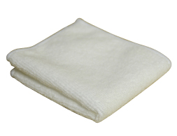 White Microfibre Polishing Cloth