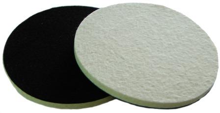 Soft Felt polishing pad for glass plastic metal Stone 5 inch 125mm