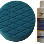 150mm Blue T60 Medium Cut Foam Pad With Scuffrex M...