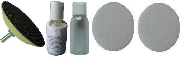 75mm Felt & Compound Glass Polishing Kit