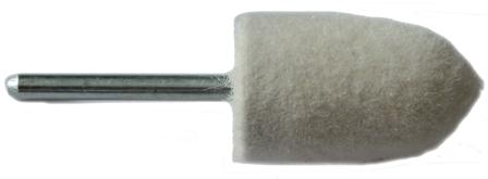 16mm Felt Polishing Point With 3mm Shaft