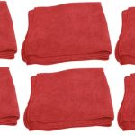 Red Microfibre Polishing Cloths 6 Pack