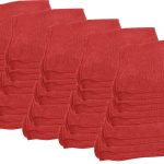 Red Microfibre Polishing Cloths 25 Pack