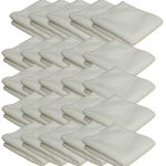 White Microfibre Polishing Cloths 25 Pack